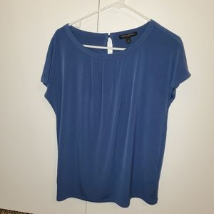 Banana Republic Blue Short Sleeved Blouse Small
